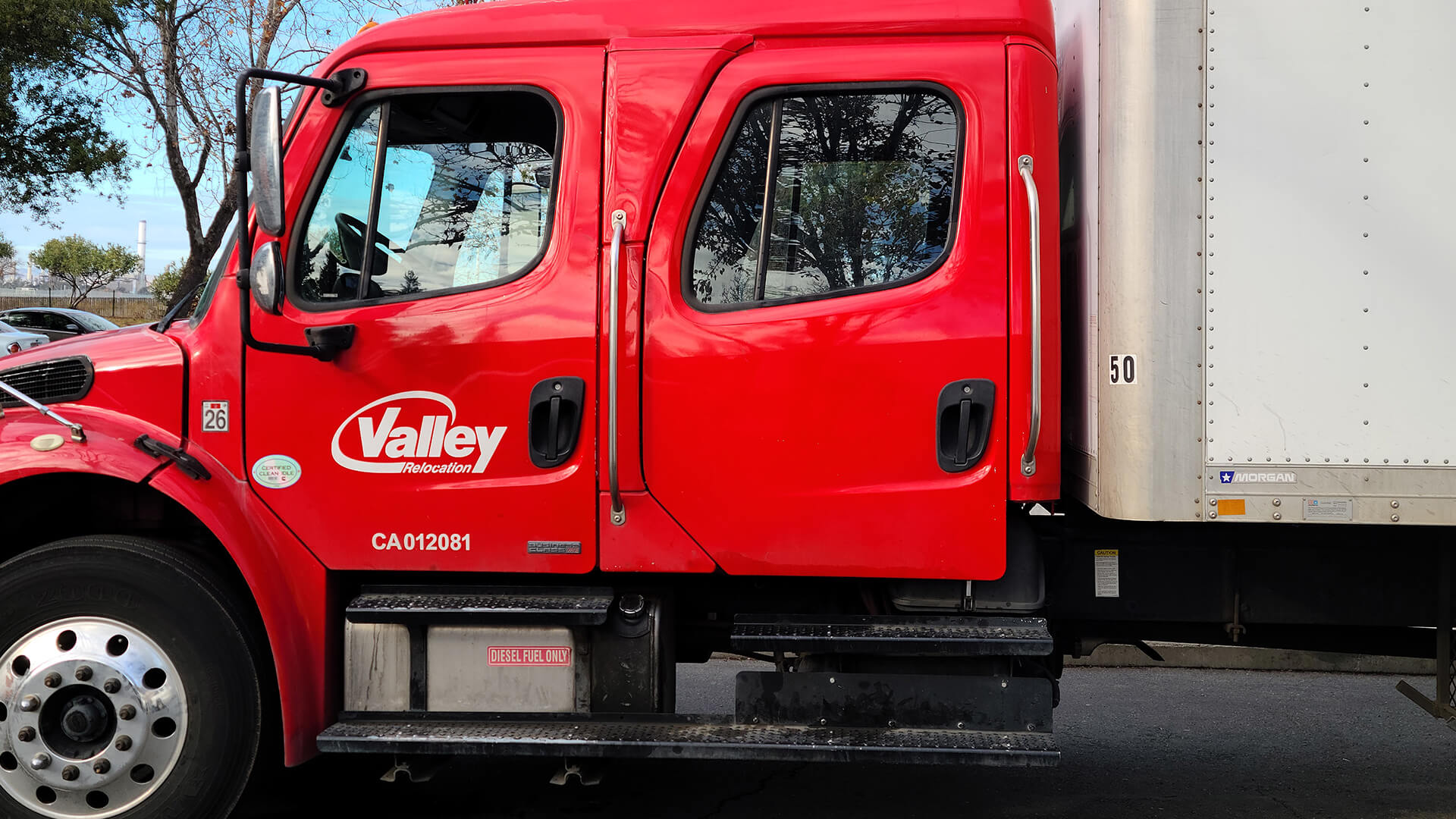 Cab of Valley Relocation Truck