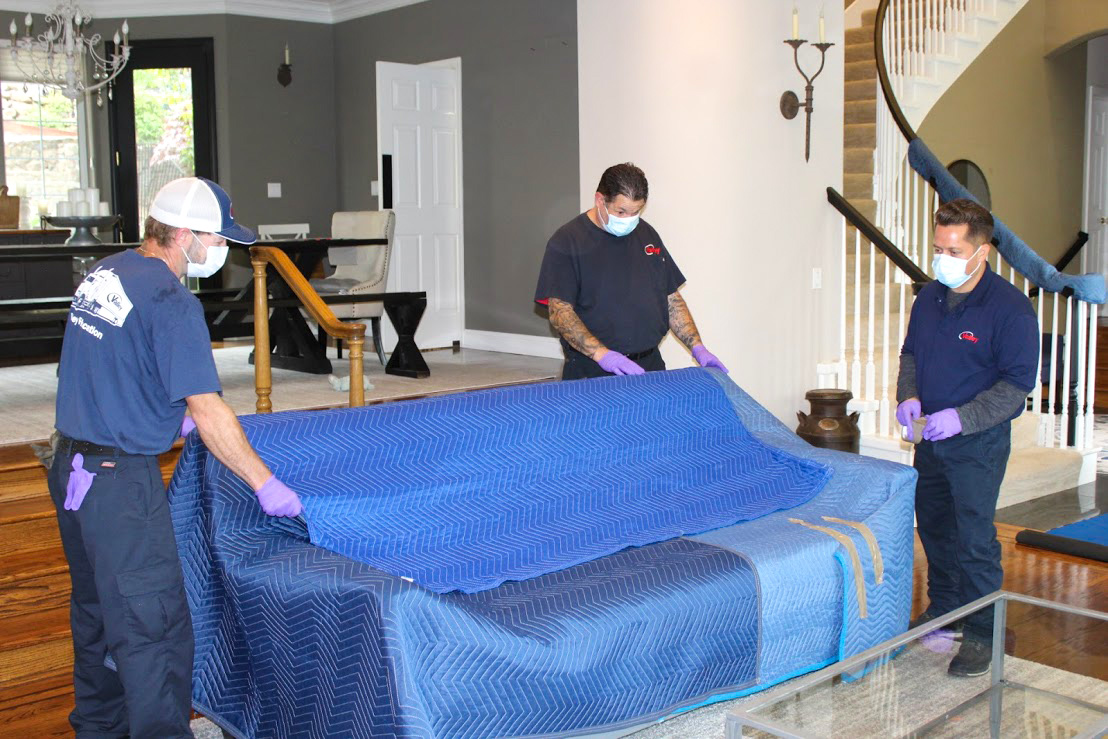 Moving and Packing Tips how to wrap a couch prep floor