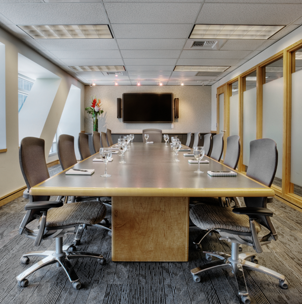 Site Survey shows a conference room table that needs to be moved