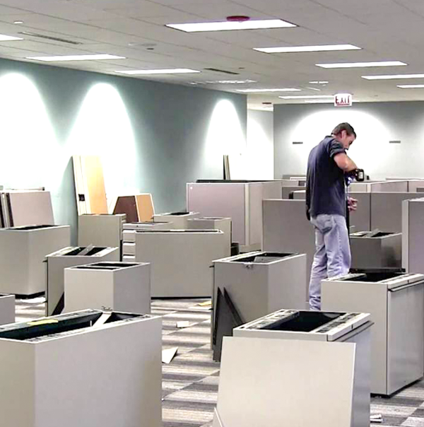 Office Decommissioning disassemble cubes San Jose Mover Moves Adds Changes crew