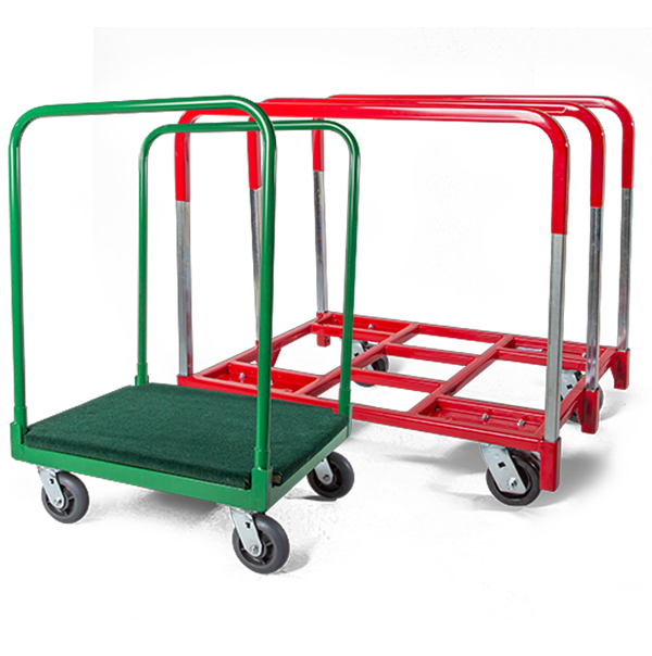 Partition Cart used for decommissioning offices