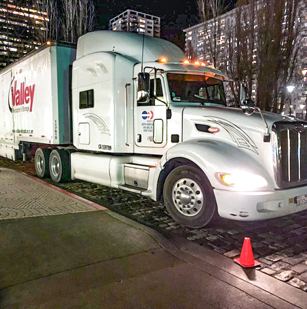 Office Move essential moving equipment is a semi tracker trailer