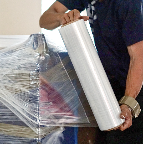 Shrink Wrap used by our Silicon Valley Mover at office decommissioning move