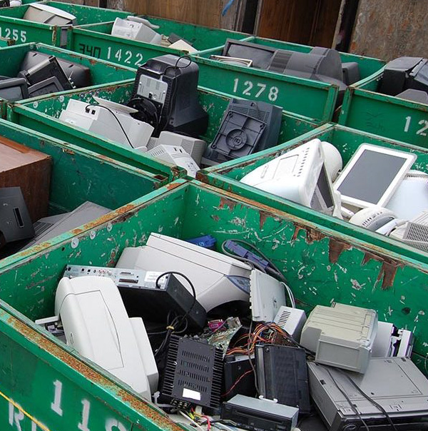 e-waste collection at a San Francisco Moving Company job site