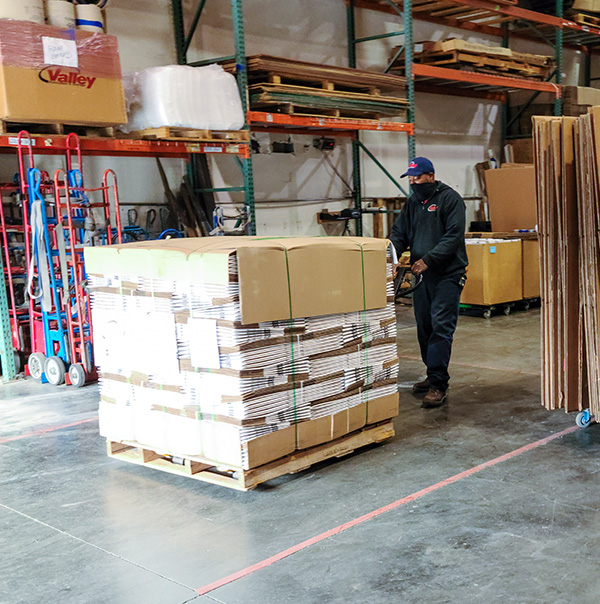Ready for loading is a high-value product shipping pallet