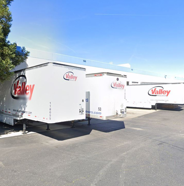 Valley Relocation Specialized Logistics Trucks ready to load